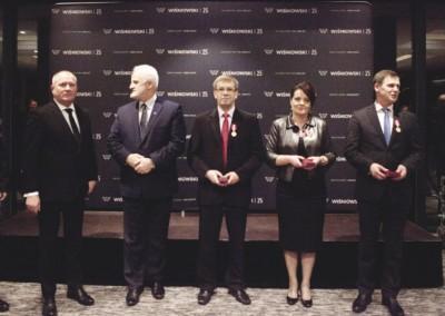 Od lewej: Andrzej Wiśniowski, Józef Pilch, Józef Faron, Krystyna Baran, Tadeusz Wiśniowski
